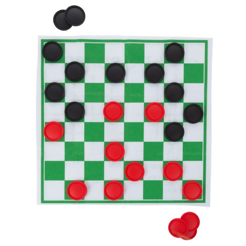 Giant Checkers and Tic Tac Toe Reversible Board Game Rug