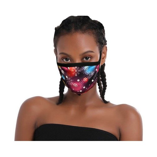 6-Pack Fabric Christmas Snowflake Masks