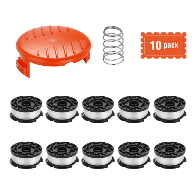 REPLACEMENT SPOOLS COMPATIBLE AND DECKER AF-100 WEED EATER SPOOL 10 PACKS