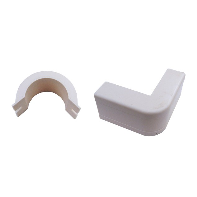 1.25 inch Surface Mount Cable Raceway, White, Outside Elbow, 90 Degree
