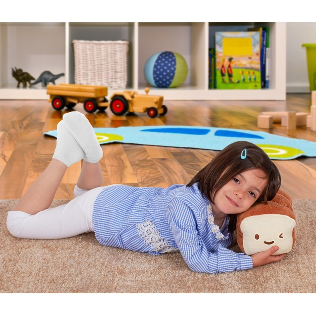 Super Plush Bread Pillow Cushion Doll - Soft Cuddly Plushy Toy for Children