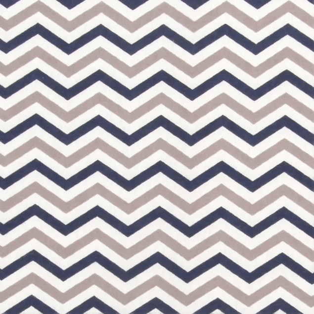 Trend Lab Navy and Gray Chevron Flannel Changing Pad Cover