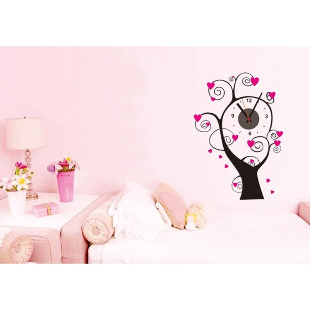 DIY Self Adhesive Interior Wall Creative Decoration Clock Decor Home Room