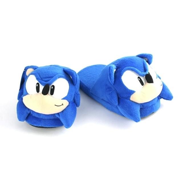 Sonic The Hedgehog Adult Slippers Sega Anime Mens Womens Plush