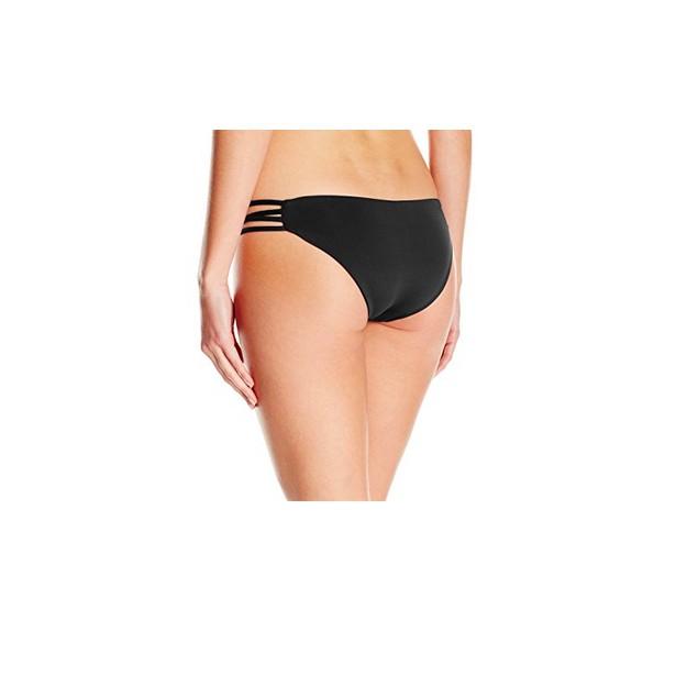 LSpace Women's Low Down Strappy Hipster Bikini Bottom, Black SIZE XS