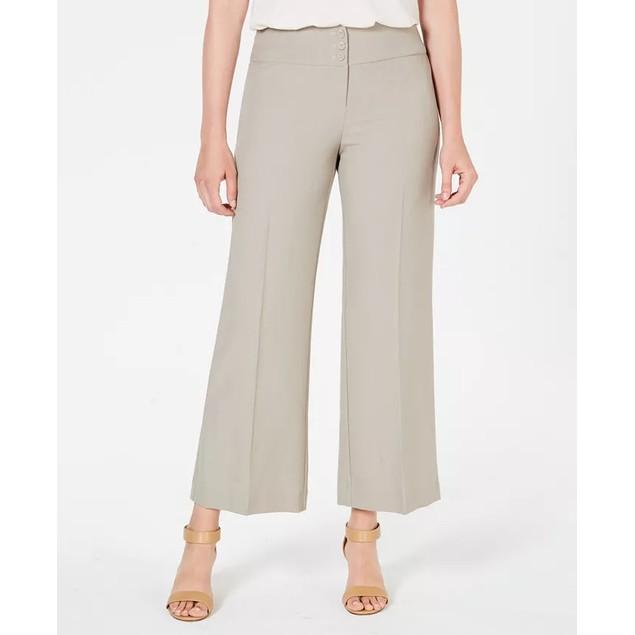 Style & Co Women's Stretch Wide-Leg Pants Brown Size 6