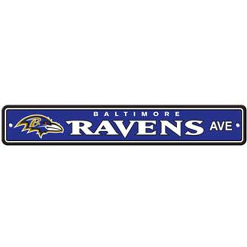 "Baltimore Ravens Ave Street Sign 4""x24"""
