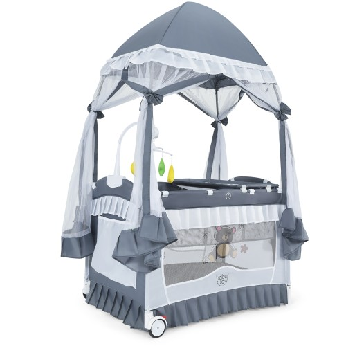 4 In 1 Portable Baby Play Yard Crib Bassinet Bed With Changing Table