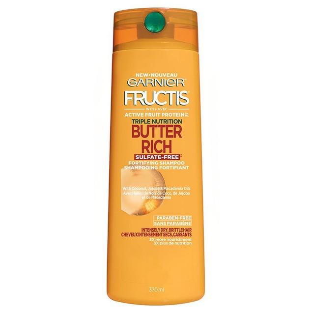 Garnier Fructis Triple Nutrition Fortifying Shampoo, with Coconut, Jojoba