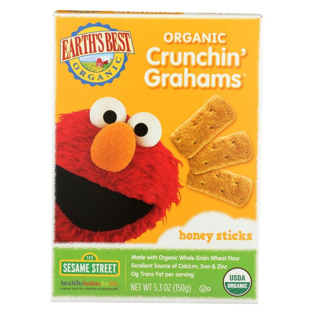 Earth's Best Organic Crunchin' Grahams Honey Sticks - Pack of 6 - 5.3 oz.