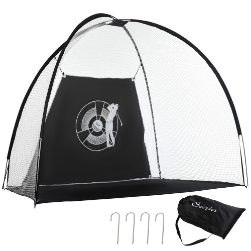 Golf Practice Net with Target Hitting Cloth Carry Bag for Sports Training