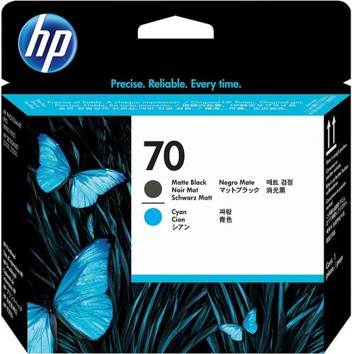 HP 70 Matte Black & Cyan DesignJet Printhead (CD404A) for DesignJet Z5400, Z5200 & Z2100 Large Format Printers