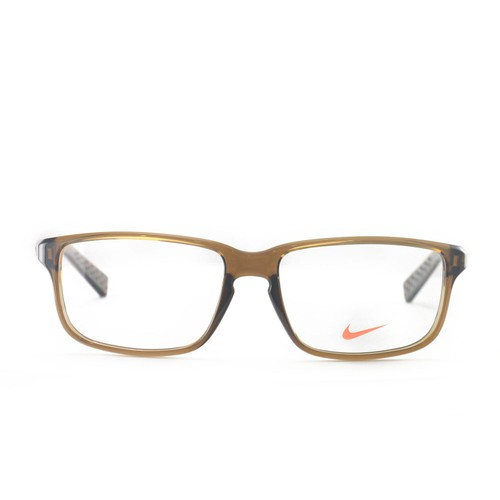 Nike Eyeglasses Frames Nike 7095 200 Brown/Walnut 54 16 140 Full Rim