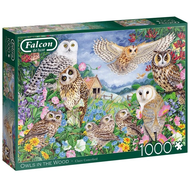 Falcon Owls in the Wood Jigsaw Puzzle - 1000 Pieces