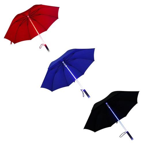 LED Flashlight Umbrella - Black, Blue or Red