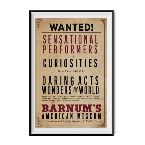 WANTED Sensational Performers And Curiosities Flyer Poster 11 x 17