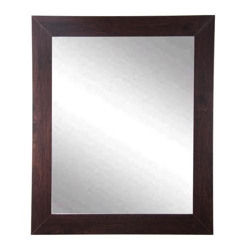 "BrandtWorks Perfect Durable Dark Walnut Entry Way Wall Mirror - 22"" x 32"""