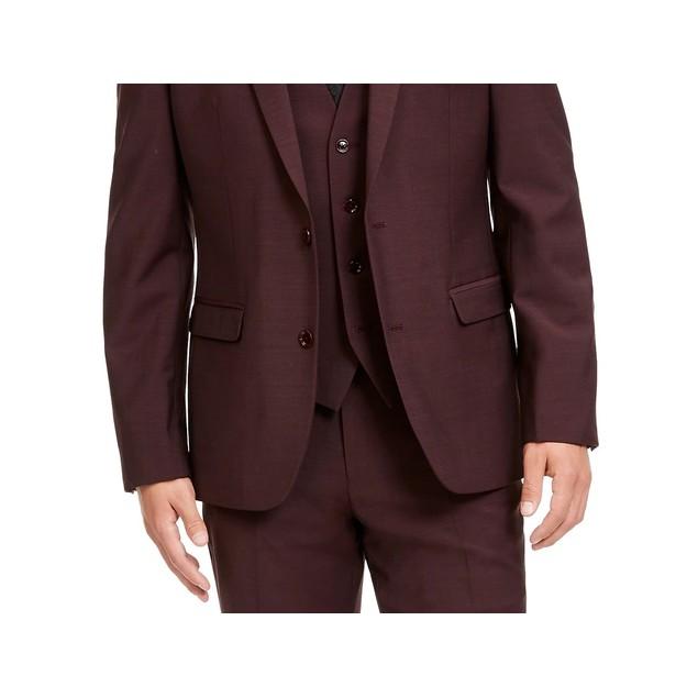 Bar III Men's Slim-Fit Active Stretch Solid Suit Jacket Purple Size 34