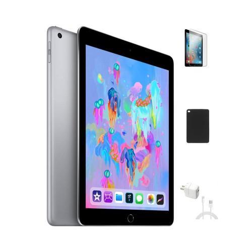 """Apple 9.7"""" iPad 6th Gen 32GB Bundle (Wi-Fi, Space Gray)"""
