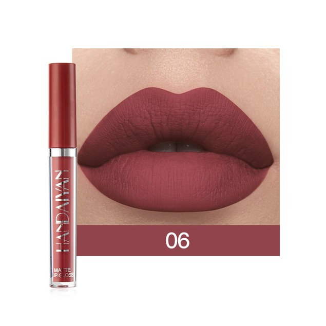 6 Pieces Of Lip Gloss Not Easy To Stain Cup Matte Lip Gloss Set Gift Box Liquid Lipstick