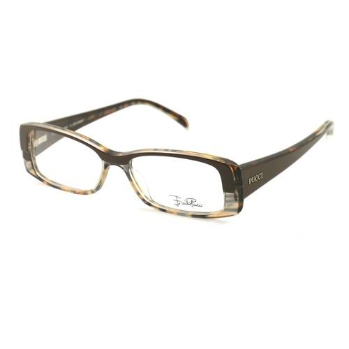 Emilio Pucci Women Eyeglasses EP2651 204 Brown 50 15 135 Full Rim Rectangle