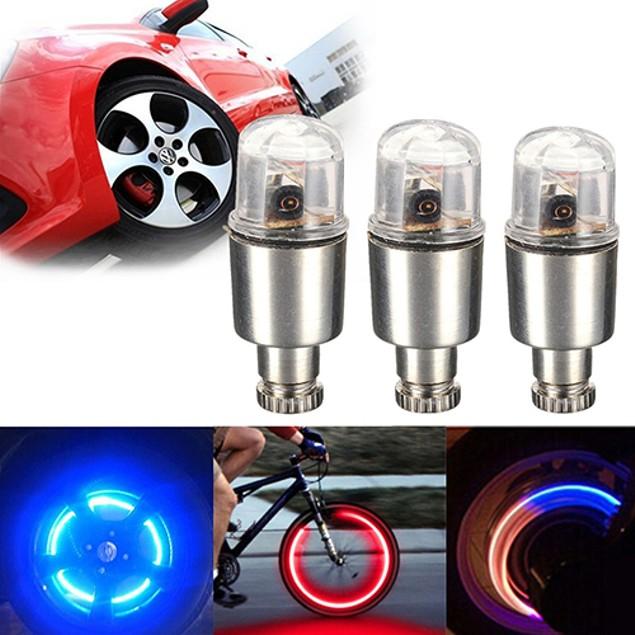 2Pcs LED Bicycle Car Motor Wheel Lights Bulbs