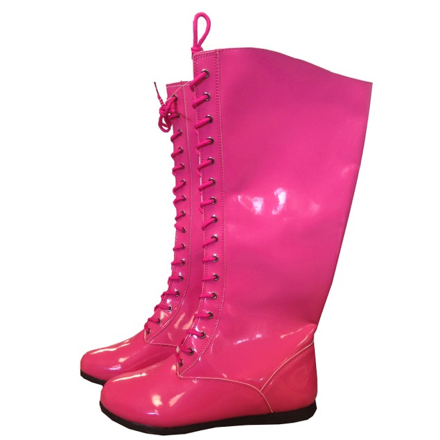 Pink Adult Wrestling Boots
