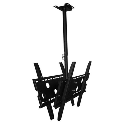 "TV Ceiling Dual Screen Mount Bracket adjustable fits 30"" - 50"" inch"