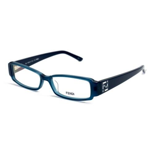 Fendi Eyeglasses Women Petrol Blue Full Rim Rectangle 50 14 135 F957R 425