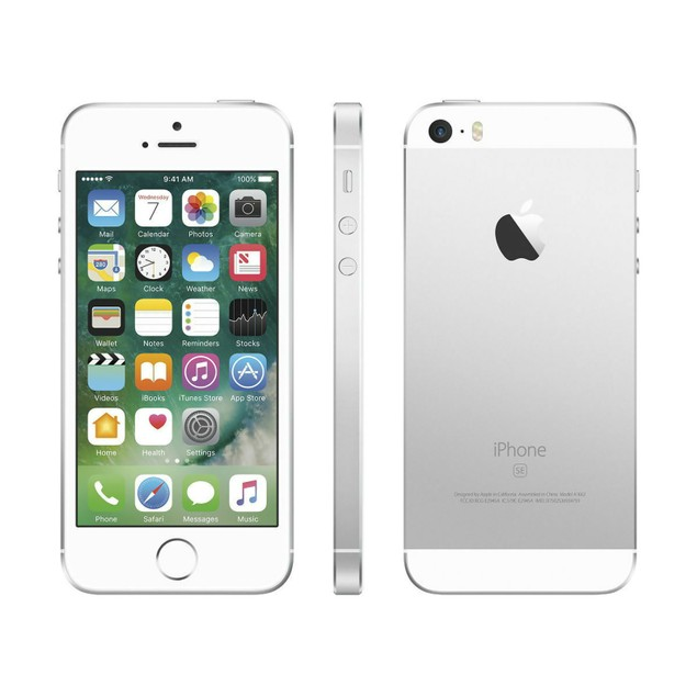 Apple iPhone SE 64GB Factory GSM Unlocked T-Mobile AT&T 4G LTE Silver - Grade B