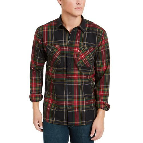 Levi's Men's Malden Plaid Shirt Red Size Extra Large