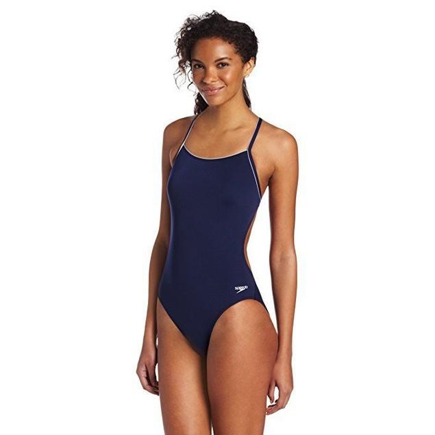 Speedo Women's Thin Strap Training Suit - Speedo Endurance+ SZ: 10/36