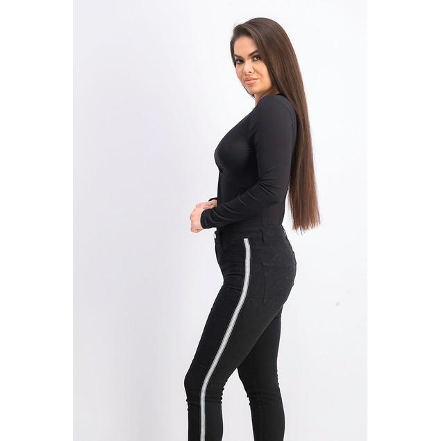 Bar III Women's Twisted Thong Bodysuit Black Size Small