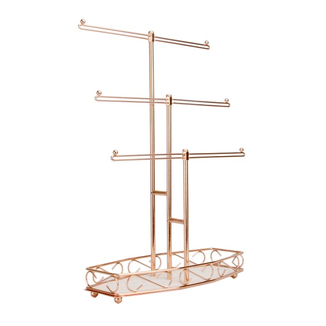 Rose Gold Jewellery Tree Stand | MandW