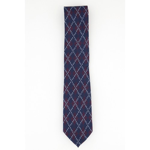 Tommy Hilfiger Men's Classic Argyle Holiday Tie Dark Red Size Regular