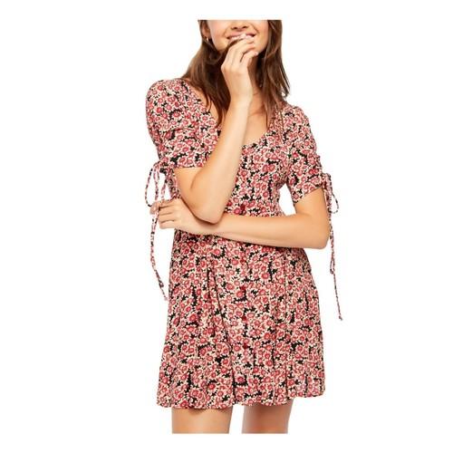 Free People Women's Lace-Up Minidress Black Size Extra Small