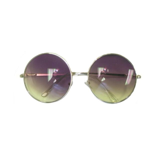 Purple/Yellow Fade Janis Joplin Round Sunglasses