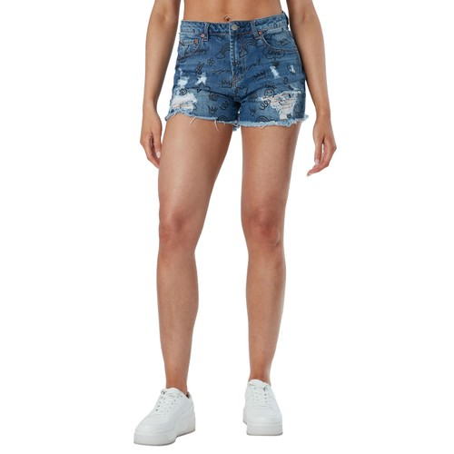 Almost famous 2 3/4in destructed hr graffiti mom short