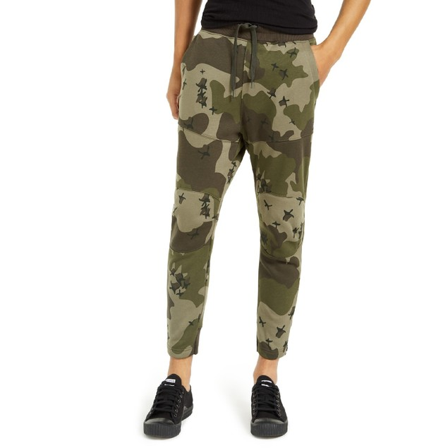 G-Star Raw Men's Slim-Fit Camo Jogger Pants Green Size 2 Extra Large