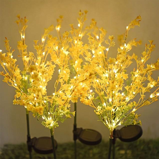 2-Pack Solar Garden Stake Flower Lights