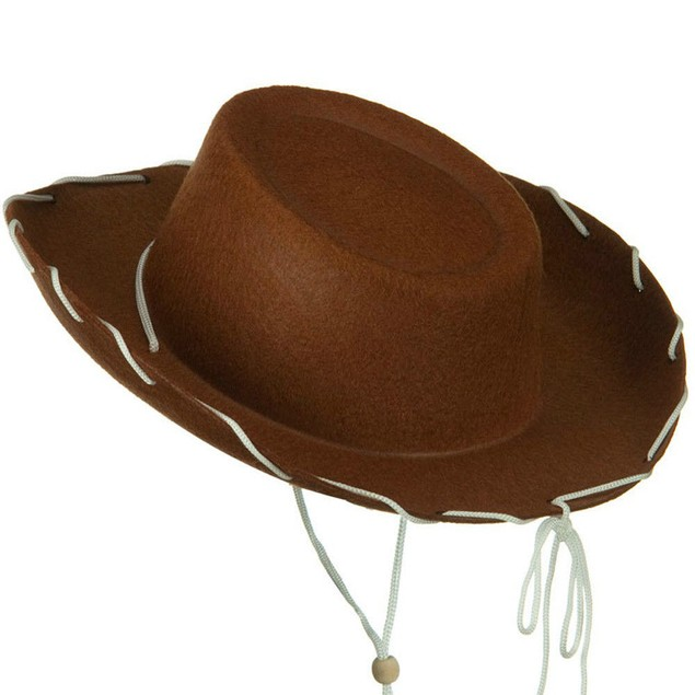 Brown Felt Cowboy Child Hat
