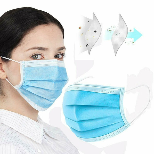 Disposable 3-Ply Mask Sanitary Healthy Anti Flu Face Mask -10 and 20 Packs