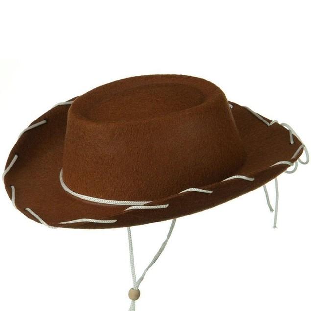 Brown Felt Cowboy Child Hat