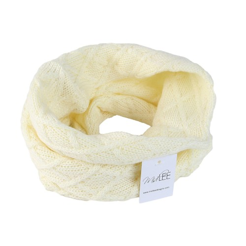 Midlee Cream Knit Infinity Scarf for Dogs (Small)