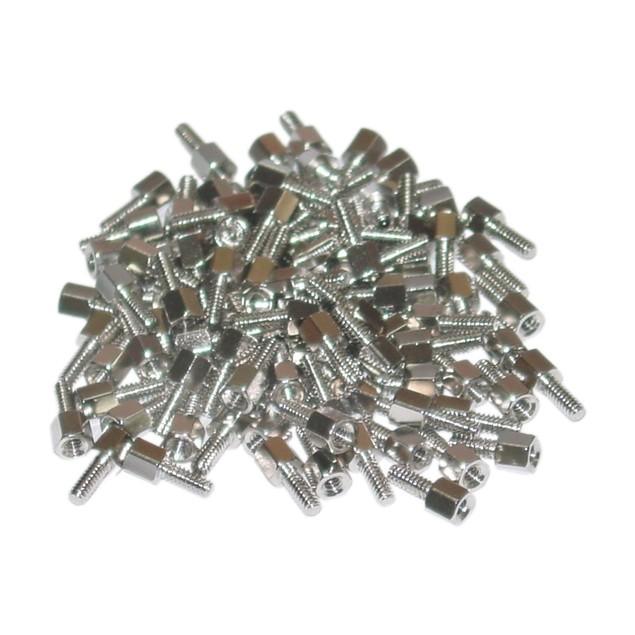 Hex Nut Jack Screw, 100 Pieces, # 4 - 40, 11.40mm