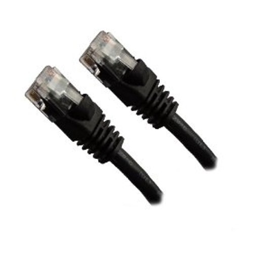 Black - CAT5e - Ethernet Patch Cable Molded Snagless Boots 7 Feet -