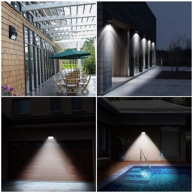 4 Pack: Waterproof Solar 25led Motion Sensor Wall Light Outdoor Garden