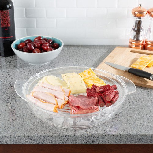 Cold Serving Tray-Veggie Platter with Ice Chamber