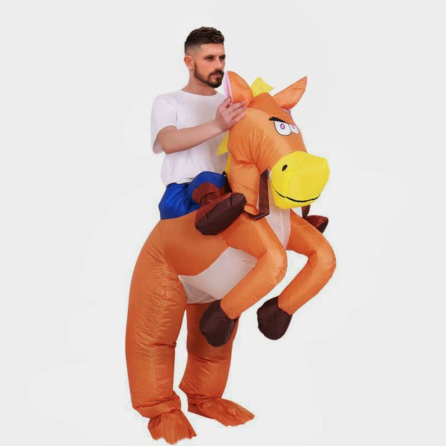 BIGTREE Inflatable Horse Riding Blow-up Party Costume