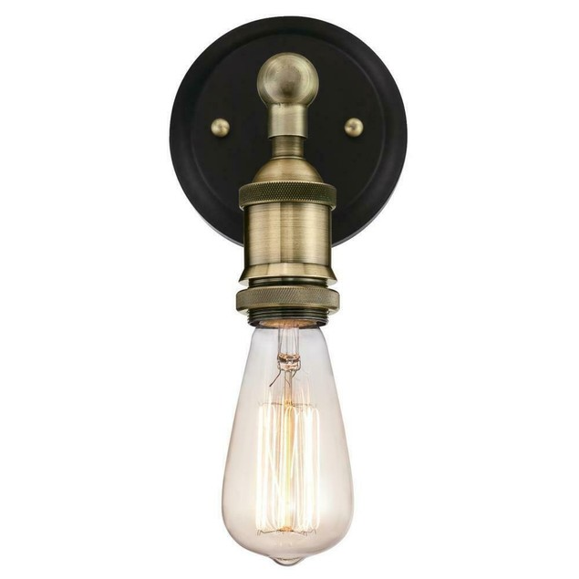 Westinghouse Steel Exterior Clear Glass Panel 1 Light Wall Sconce, Matte